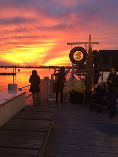A beautiful Newport sunset outside of our store on Bannister's Wharf #tylerboe #sunset