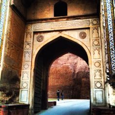 One of the gates into Lahore Fort in Pakistan