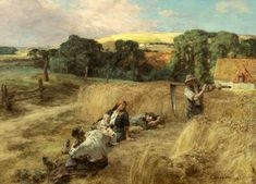 A Rest from the Harvest  by Léon Augustin Lhermitte