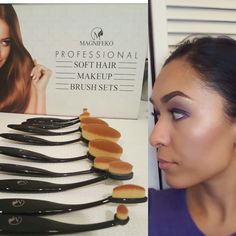 Love these brushes! Definitely dupes for the higher end ones, but for  a fraction of the price. These are perfect for giving you an airbrush look! I'm obsessed with the foundation brush, love the finishing touch! Get yours here: https://www.amazon.com/gp/product/B01MDTJ25C/ref=oh_aui_detailpage_o04_s00?ie=UTF8&psc=1