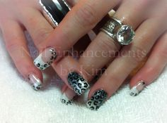#Nails #LCN Ombre & Leopard.  Created by Kimberly Steeves (Speichts)