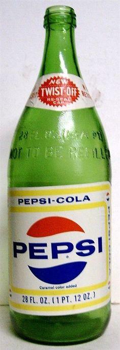 1969 Pepsi 28 oz. No Deposit Bottle - Baltimore, MD - Paper Label #Pepsi