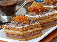 Prajitura cu foi de zahar ars ~ Bucatar maniac si prietenii Romanian Desserts, Romanian Food, Romanian Recipes, Food Cakes, Something Sweet, Sweet Desserts, Cakes And More, Cake Recipes, Sweet Treats