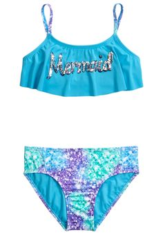 b324ea4605 Mermaid Flounce Bikini Swimsuit Savannah Mae Cute Swimsuits, Justice  Swimsuits, Swimsuits 2017, Cute