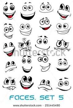 stock-vector-cartoon-faces-with-different-expressions-mostly-happy-and-smiling-featuring-the-eyes-and-mouth-251445490.jpg (318×470)