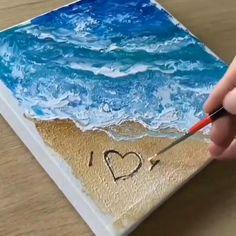 Canvas Painting Tutorials, Diy Canvas Art, Diy Painting, Painting Videos, Acrylic Art, Acrylic Painting Canvas, Art Painting Gallery, Art Drawings Sketches Simple, Watercolor Art