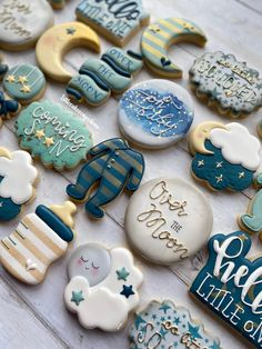 Baby Shower Menu, Baby Shower Cakes For Boys, Baby Girl Shower Themes, Boy Baby Shower Cakes, Baby Shower Foods, Baby Boy Cookies, Cookies For Baby Shower, Baby Shower Biscuits, Sugar Cookie Royal Icing