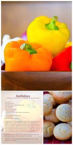 What's for Dinner – Jambalaya Cornbread Muffins, Jambalaya Recipe, Honey Butter, Stuffed Peppers, Meals, Dinner, Fruit, Recipes, Life