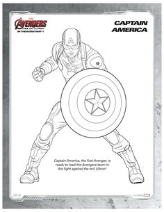 Marvel Avengers Captain America Coloring Page