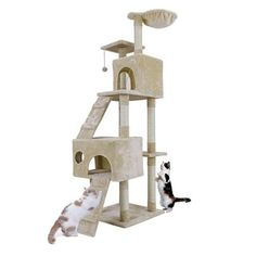 New cheap pet gift uploaded at SketchGrowl: Cat Toy House Tree w/ Balls Cat Tree House, Cat Tree Condo, Cat Condo, Toy House, House Beds, Cat Activity Centre, Furniture Scratches, Condo Furniture