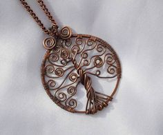 Copper Celtic Tree of Life Necklace. $31.99, via Etsy.