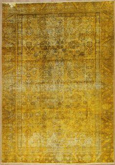 Orientteppich Patchwork Vintage modern Handgeknüpft  carpet perser 314 x 219