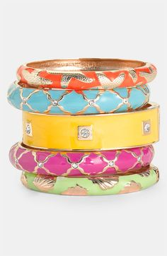 Pretty Bangles, I want them all!!  Nordstrom.