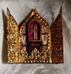 Images of shrines | Designed for artchix: mini Easter shrine.