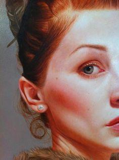Partial portrait by Kris Lewis
