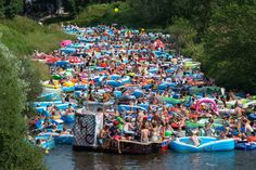 I am off on an adventure and would love to make it to Helsinki, Finland for the annual Kaljakellunta Beer Floating Festival. Festivals In August, Beer Festival, Getting Drunk, Event Organization, Finland, Capital City, Study Abroad, Rafting, The Locals