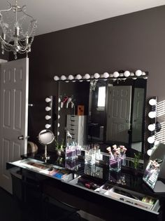 This mirror is perfect; Can easily do this with any mirror. Just ...