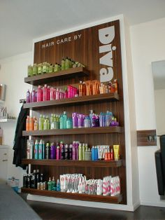 Bespoke #cabinets and #display for #DIVA Hair Care