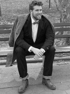 Zach Miko Talks Becoming a Plus Size Male Model, Dispelling Big Guy Myths - boys & butts - Plus Size Men, Plus Size Womens Clothing, Plus Size Fashion, Modelos Plus Size, Portrait Photography Men, Portrait Poses, Male Portraits, Img Models, Gisele Bundchen