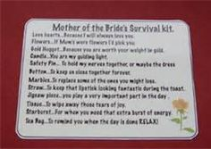 Mother of the Bride Survival Kit | Bridal Ideas | Pinterest ...