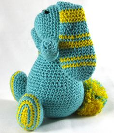 Knuffel konijn, blauw