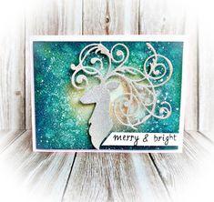 elegant deer christmas card sizzix jasleen kaur 2