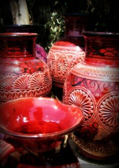 red #hipandhumblehome.com #morocco #pottery #red