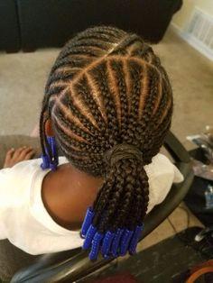 Kids braids Lil Girl Hairstyles, Black Kids Hairstyles, Natural Hairstyles For Kids, Kids Braided Hairstyles, Children Hairstyles, Natural Hair Styles, Little Girl Braid Styles, Kid Braid Styles, Little Girl Braids