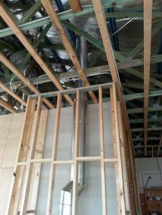 Flue installation of an inbuilt unit