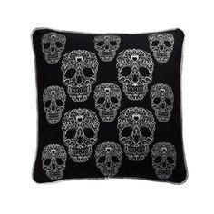 Mini Skulls Pillow Black