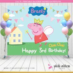 Peppa pig telón de fondo Peppa Pig inspiró por PinkArrowStudio