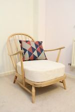 Retro vintage 1960 / 70s modernist Ercol Windsor chair seller refurbished 2 of 2
