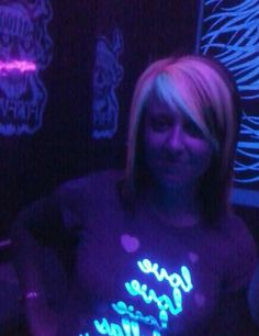 Dye my hair with blacklight hair color!!! And then go to main event :D