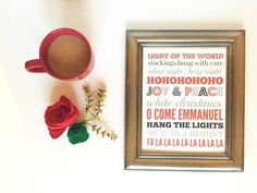 Free Christmas Printable!  Just print and frame for the mantel or the wall to spruce up for the Holidays! #IDelight #HolidayDelight