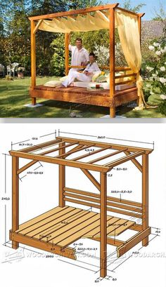 Outdoor Daybed Plans - Outdoor Plans and Projects | WoodArchivist.com