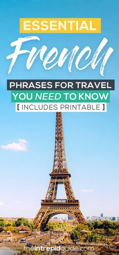 Essential French Phrases for Travel and Printable Guide Best Language Learning Apps, Learning Languages Tips, Learning Resources, Europe Travel Guide, France Travel, Travelling Europe, Italian Phrases, French Phrases, Best Travel Quotes