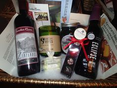 Christmas gift baskets-loaded with local items.