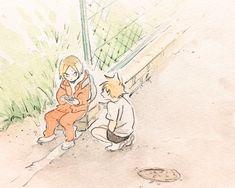 たもと(@tamotock)さん   Twitter Manga Anime, Haikyuu Manga, Haikyuu Fanart, Anime Art, Kenma Kozume, Kuroken, Pretty Art, Cute Art, Hinata