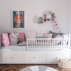 Kinderbett You are in the right place about Bed Room closet Here we offer you the most beautiful pictures about the ikea Bed Room you are looking for. Ikea Bedroom, Baby Bedroom, Girls Bedroom, Ikea Girls Room, Ikea Baby Room, Toddler Rooms, Toddler Bed, Cama Ikea, Girl Room