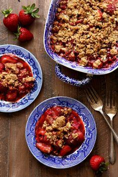 Strawberry, Raspberry and Rhubarb Crisp
