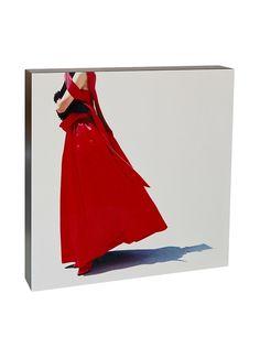 Art Block Red Dress- Fine Art Photography On Lacquered Wood Blocks at MYHABIT $144