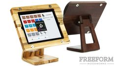 The Freeform Stand is a wood and carbon fiber iPad stand for Square Register point of sale users. Designed for looks; built for life.