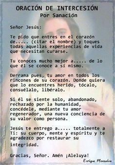 oracion God Prayer, Daily Prayer, Prayer Quotes, Faith Quotes, World Quotes, Life Quotes, Catholic Prayers In Spanish, Beautiful Prayers, Prayers For Healing