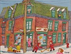 Miyuki Tanobe - Jeux d St Louis, House Illustration, Illustrations, Asia, Artist, Houses, Painting, Image, Winter Games