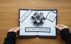 DIY 3D Flower POP UP Card | Gör Det Själv: 3D Blommor Pop-Up Kort TUTORIAL ( BESKRIVNING) :  https://www.youtube.com/watch?v=X4qYhTrkTaI