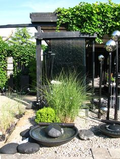 Compact water features, small-space landscaping, garden inspiration, and of course all things relating to container water gardening, patio ponds and much more. Zen Garden Design, Japanese Garden Design, Landscape Design, Container Water Gardens, Container Gardening, Back Gardens, Outdoor Gardens, Water Walls, Pergola