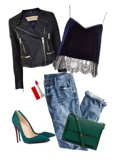 """""""Sexy, sassy and classy"""" by deserwina ❤ liked on Polyvore featuring Burberry, J.Crew, Christian Louboutin, River Island, Marni and Maybelline"""