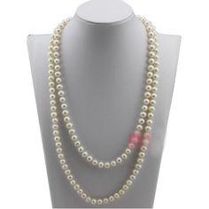 HSG lange Pullover Perlenkette aus Sterling Silber wihe Perlenkette 7.5-8.5mm - http://schmuckhaus.online/hsg/hsg-lange-pullover-perlenkette-aus-sterling-wihe
