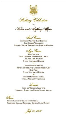 Menu Card designed by Debra Fleming +1-510-654-9903,  www.printedaffair.com