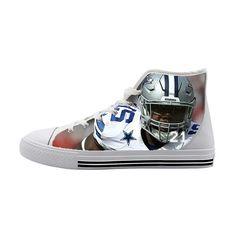 Dallas Cowboys Ezekiel Elliott High Top Canvas Shoes